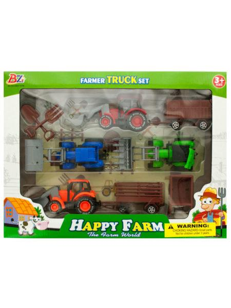 Farm Tractor Truck & Trailer Set (Available in a pack of 2) by DDI