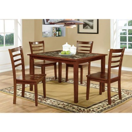 Furniture Of America Tillman 5 Piece Faux Marble Dining Table Set