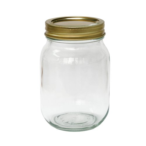 Mainstays Pint Glass Jar With Lid And Ring
