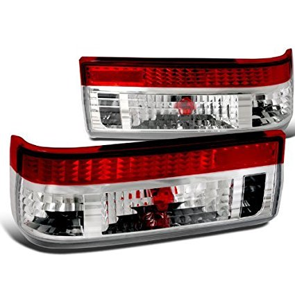 Spec-D Tuning LT-AE86RPW-TM Toyota Corolla Ae86 Gts Red/Clear Tail Lights