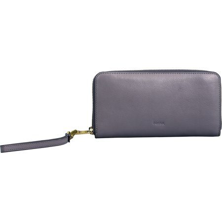 Fossil Women's Emma Rfid Large Leather Zip Clutch - (Synthetic Leather Clutch)