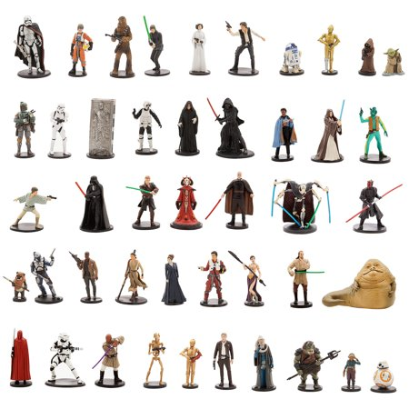 Star Wars Ultimate Figurine Set Action Figure Toy Playset Disney Collectible C-3PO-R2-D2-Luke Skywalker-Yoda-BB-8-Han Solo-Stormtrooper-Kylo Ren-Darth Vader-Leia-Chewy-Rey-Darth Maul-Obi-Wan-Anakin](Leia And Han)