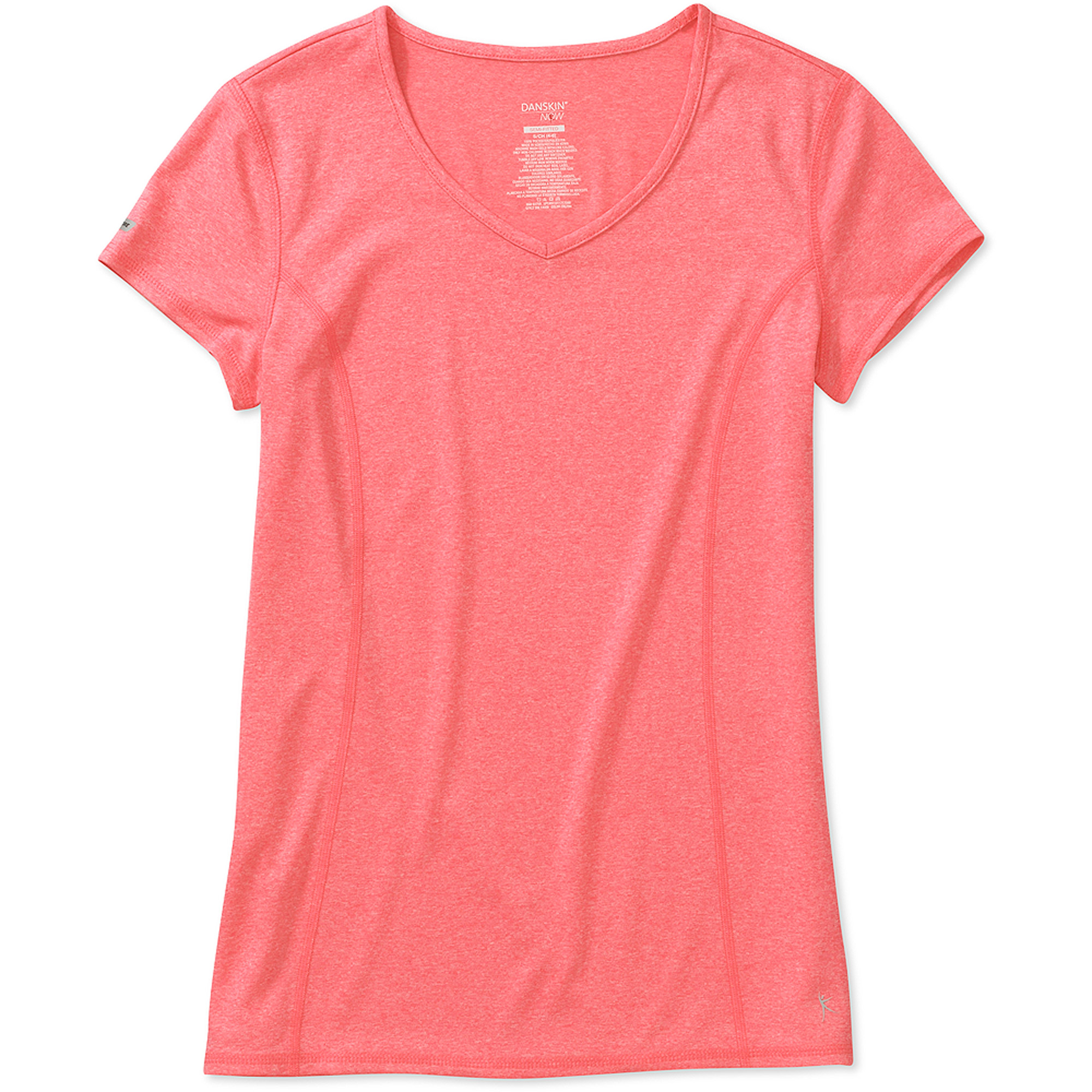 Danskin Now Women's Princess Seam V-Neck T-Shirt