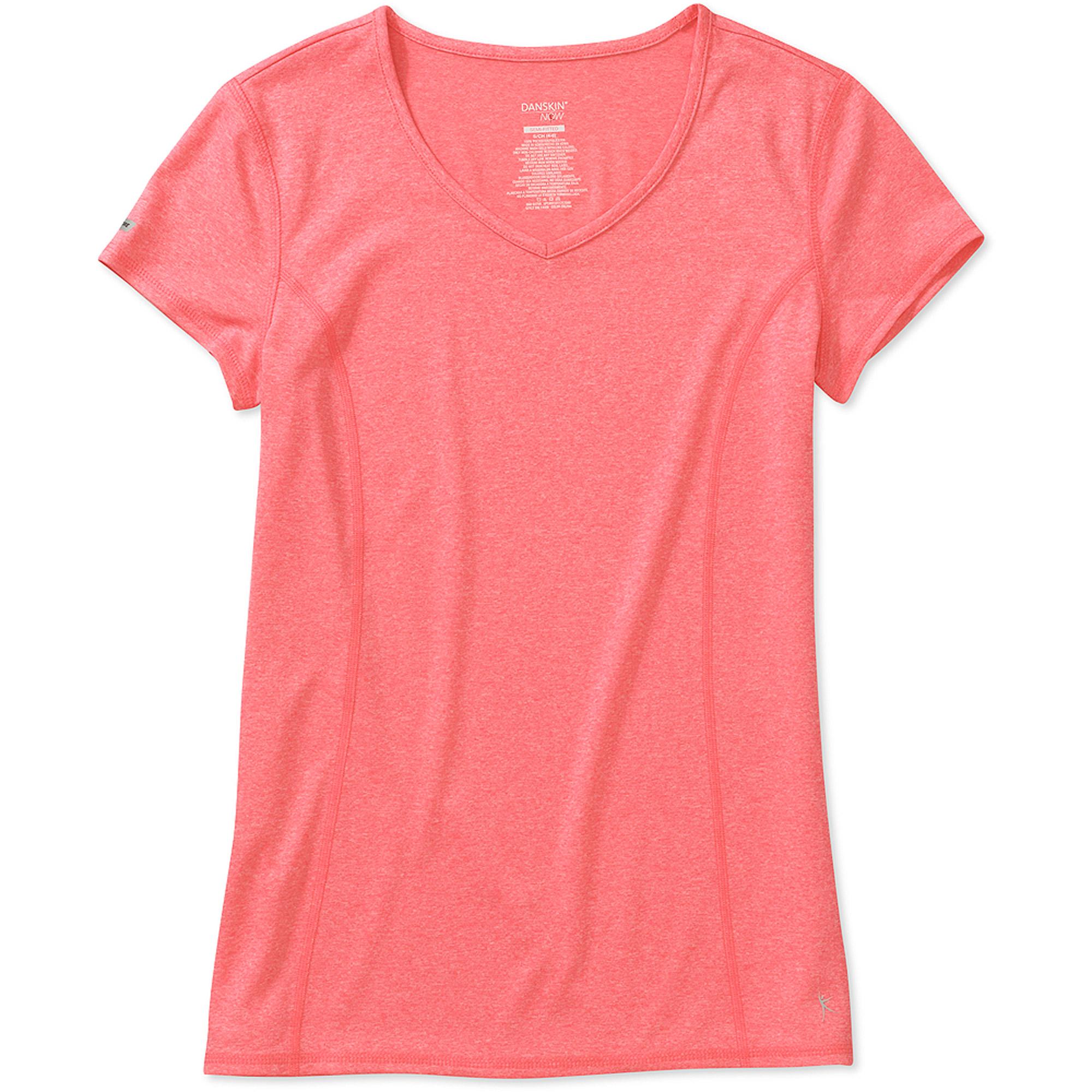 Danskin Now Women's Princess Seam V-Neck T-Shirt