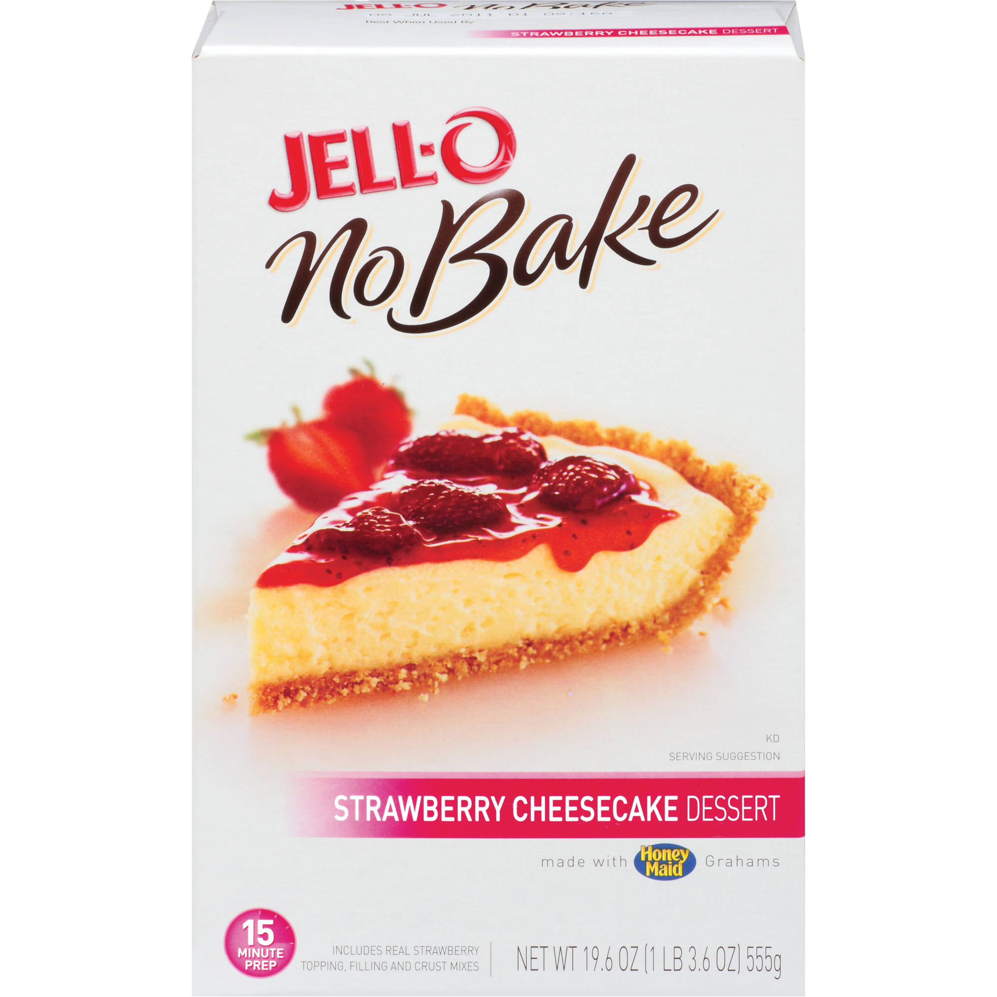 Jell-O No Bake Strawberry Cheesecake Dessert Mix, 19.6 oz