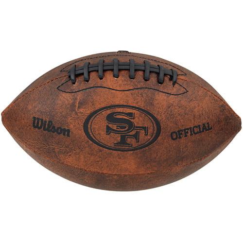 "Gulf Coast NFL Wilson 9"" Throwback Football, San Francisco 49ers"