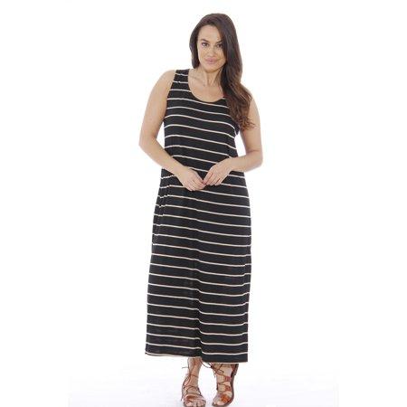 f374fcc276f Just Love - Plus Size Summer Dresses   Maxi Dress (Black   Khaki