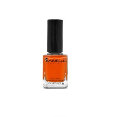 B Nail Shade Fire Me Up, A Deep Fiery Bright Orange - White And Orange Halloween Nails