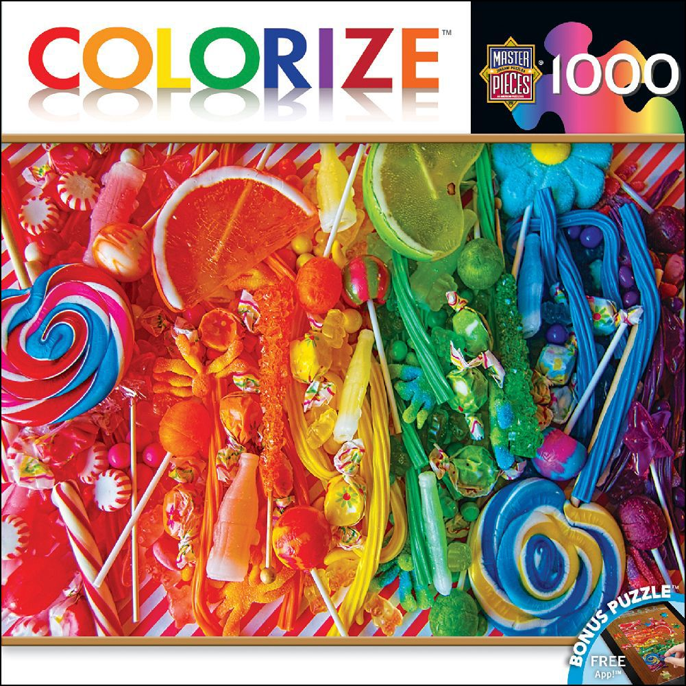MasterPieces Colorize! Taste the Rainbow Puzzle (1000 Piece)