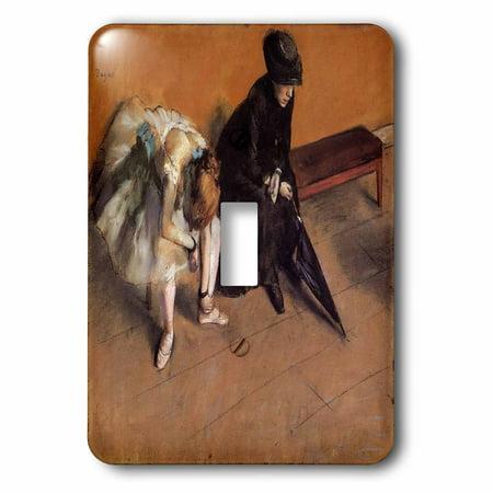 Degas Ballerina Paintings - 3dRose Edgar Degas Painting Of Ballerinas Waiting 1882, 2 Plug Outlet Cover