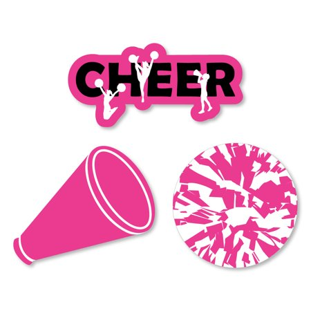 We've Got Spirit - Cheerleading - Shaped Birthday Party or Cheerleader Party Cut-Outs - 24 Count - Cheerleader Supplies