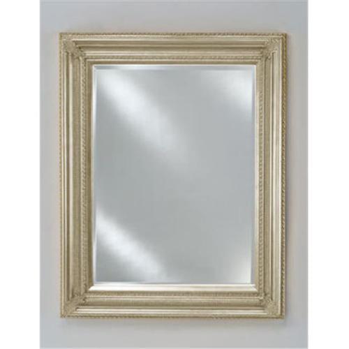 Afina Corporation EC15-2834-SV 28 inchx 34 inchBaroque Decorative Wall Mirror - Antique Silver