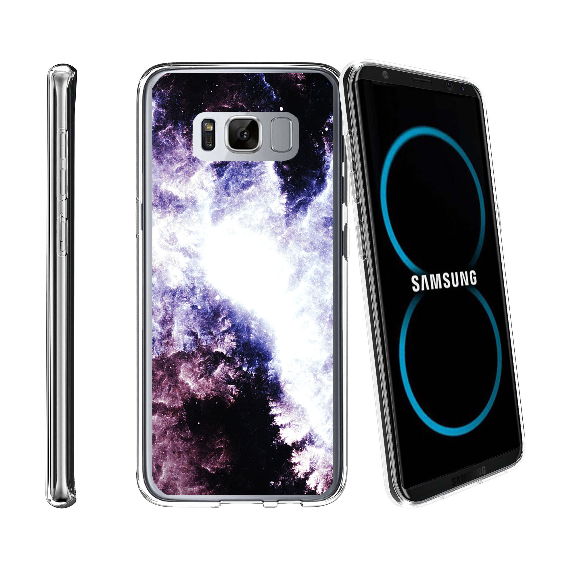 Case for Samsung Galaxy S8 Plus | Galaxy S8 Plus Transparent Silicone Case [ Flex Force ] Flexible Clear Case Galaxy Collection