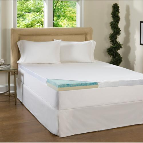Beautyrest 2 Piece 2-inch Flat Select Gel Memory Foam Mattress Topper with Cover King