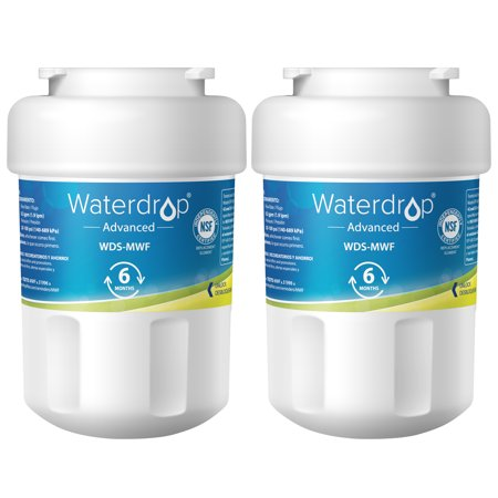 Waterdrop MWF Refrigerator Water Filter, NSF 53&42 Certified to Reudce 99% Lead, Compatible with GE SmartWater MWF, MWFINT, MWFP, MWFA, GWF, HDX FMG-1, GSE25GSHECSS, RWF1060, Kenmore 9991 (Pack of
