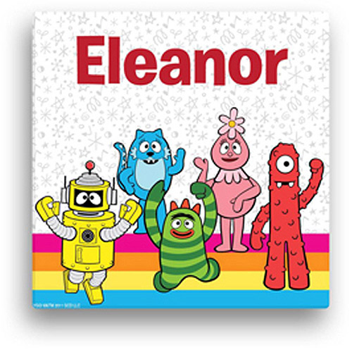"Personalized Yo Gabba Gabba! Rainbow 16"" x 16"" Canvas Wall Art"
