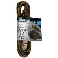 PowerZone Spt-2 Extension Cord, 16/2, 12 Ft