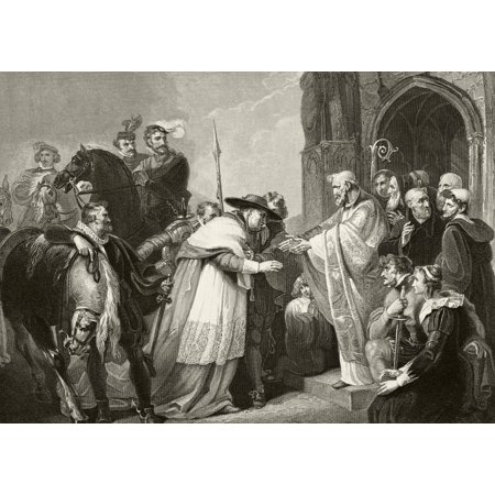 Thomas Cardinal Wolsey At Leicester Abbey After Falling Ill While Returning To London After Being Accused Of Treason 1530 From The National And Domestic History Of England By William Aubrey Published