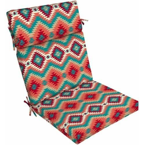 Mainstays Outdoor Patio Dining Chair Cushion, Multiple Patterns Available