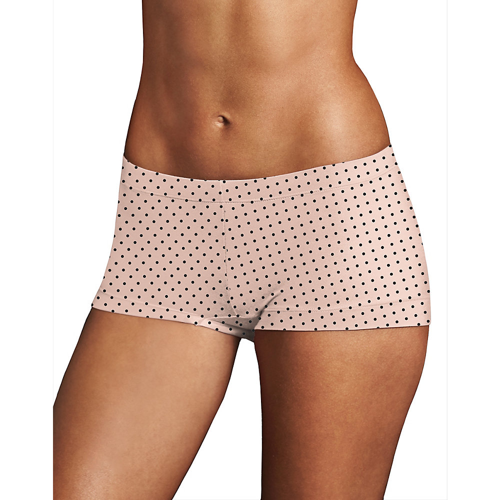 Maidenformreg Dreamreg Boyshort Dream Dot 8 8 Shell Winter White Black Dot