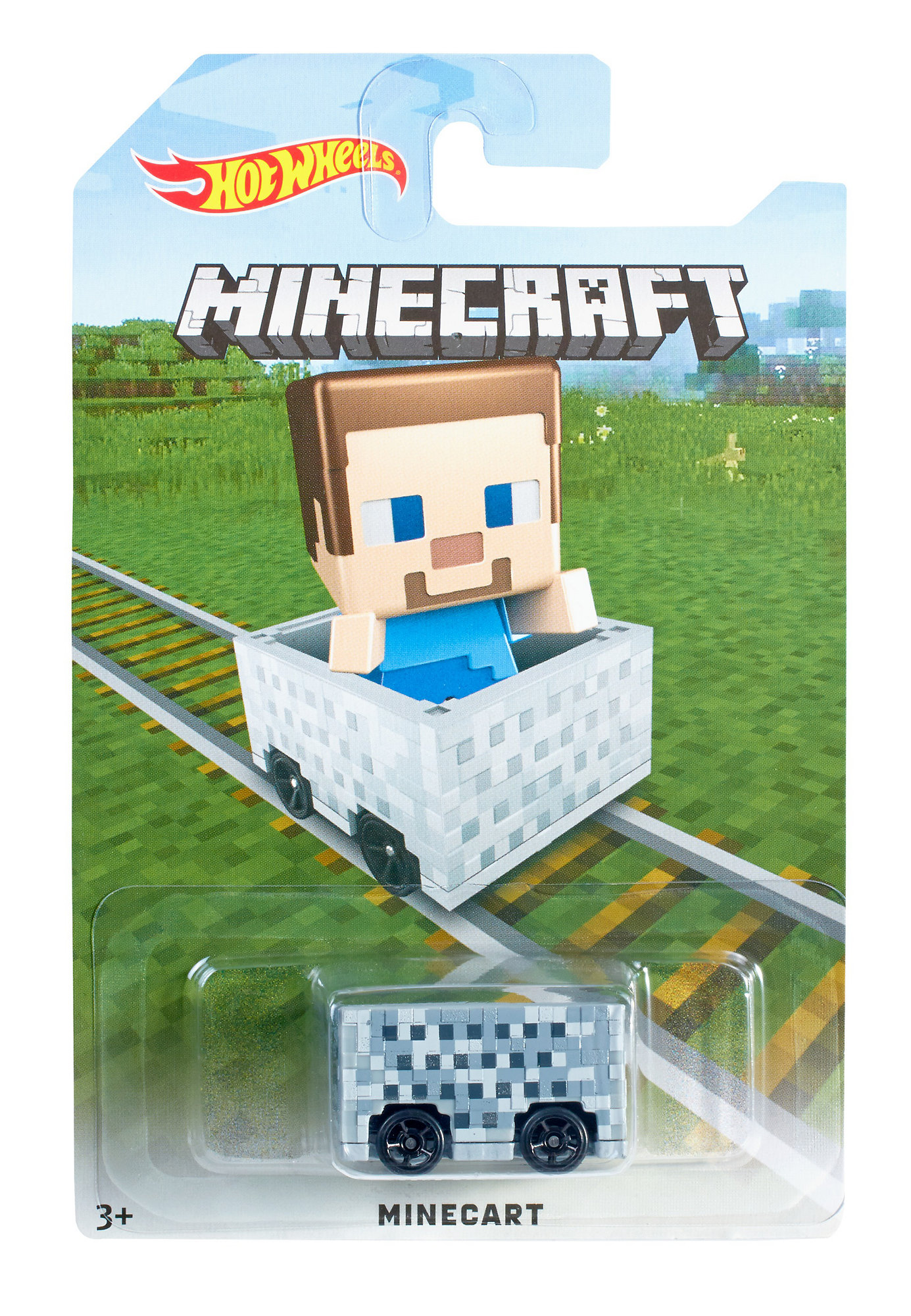 Hot Wheels Minecraft Steve Minecart by Mattel