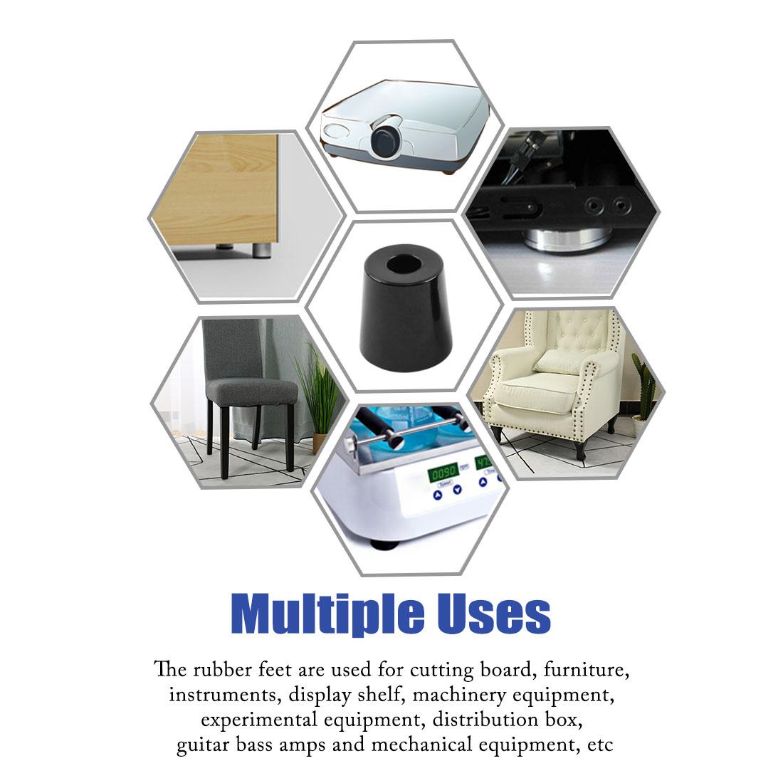 35pcs Rubber Feet Bumper Cabinet Amplifier Speaker Desk Leg Pads, D33x27xH33mm - image 6 of 7