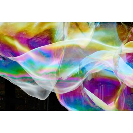 Bubble Tea Poster - LAMINATED POSTER Ease Soap Bubble Bubble Colorful Float Fly Poster Print 24 x 36