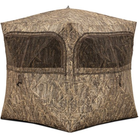 Barronett Blinds Grounder 350 3-Person Pop-Up Hunting Blind, Bloodtrail Blades Camo