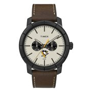 Men's Pittsburgh Penguins Timex Watch Home Team Leather Watch