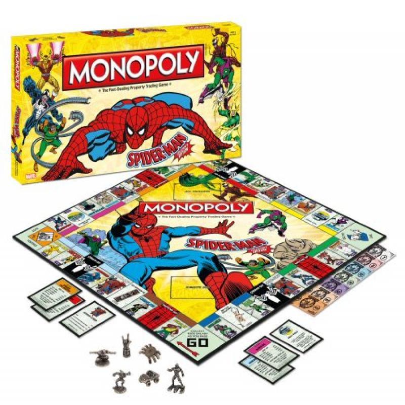 Usaopoly Spider-Man Monopoly Game Collectors Edition UPMN011-079