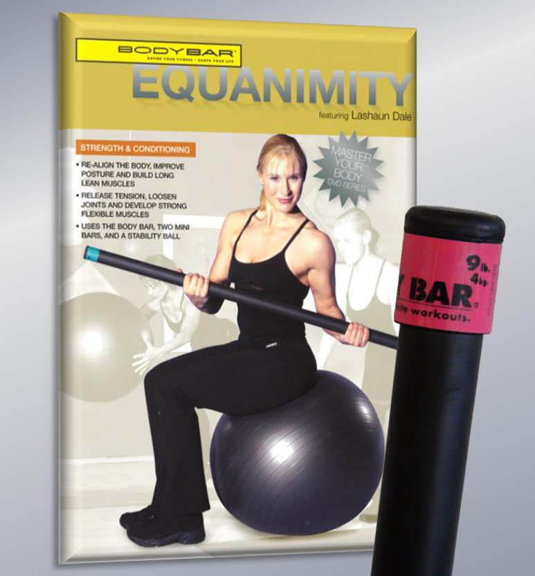 9 lbs. Body Bar with Equanimity DVD
