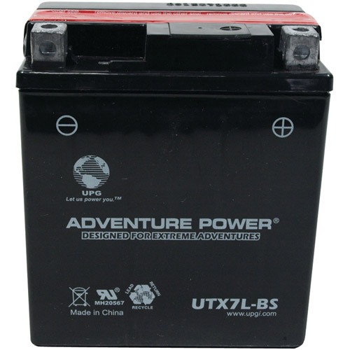 UPG 43006 UTX7L-BS Dry Charge AGM Power Sports Battery