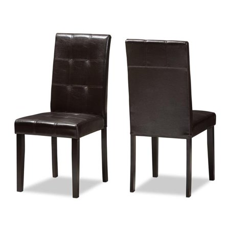Baxton Studio RH5991C-Dark Brown-DC Avery Modern & Contemporary Dark Brown Faux Leather Upholstered Dining Chair - Set of 2 - image 1 of 1