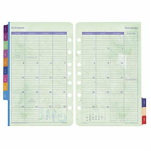 Day-timer DTM09626 Calendar Refills- Flavia- 2PPM- Jan-Dec- 8-. 50inchx5-. 50inch