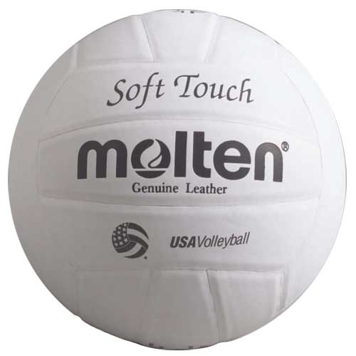 Molten Soft Touch White Genuine Leather Volleyball