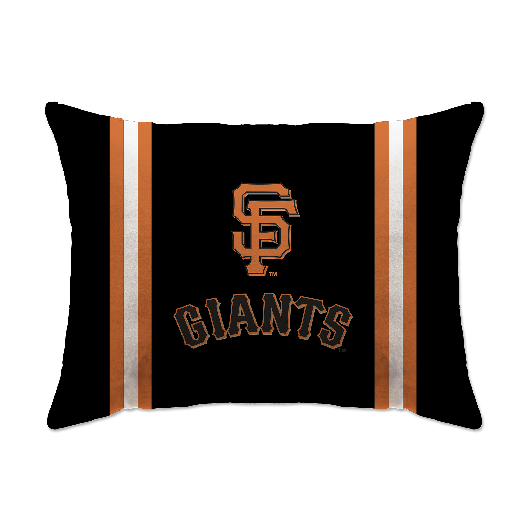 "San Francisco Giants 20"" x 26"" Plush Bed Pillow - Black - No Size"