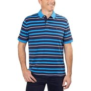 Tommy Hilfiger Mens Striped Rugby Polo Shirt, Blue, XX-Large