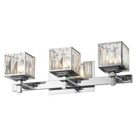 golden lighting neeva 1035 ba3 ch vanity light chrome walmart com