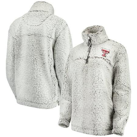 Texas Tech Red Raiders Women's Sherpa Super-Soft Quarter-Zip Pullover Jacket - Gray (Texas Tech Jackets)