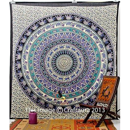Indian Mandala Tapestry Bohemian Beach Blanket Wall Hanging Bedspread Dorm Decor - Diy Bohemian Decor