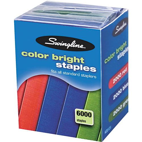 Swingline Color Bright Staples, 6000-Pack