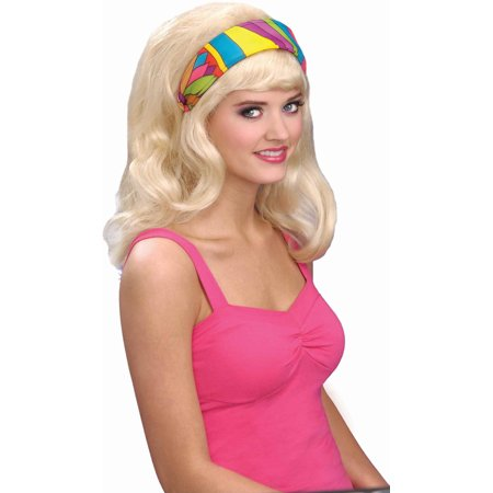 Womens 60s or 70s Style Hippie Mod Costume Colored Headband