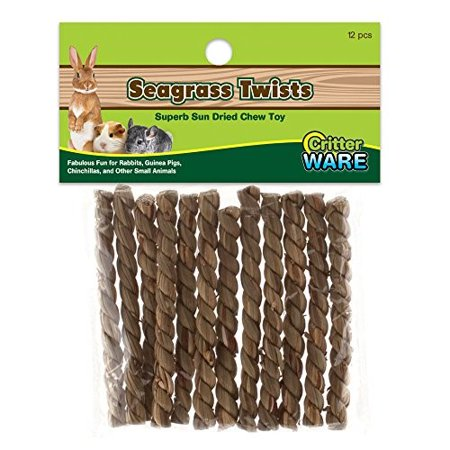(4 pack) Ware Seagrass Twists Small Animal Chew Toy, 7