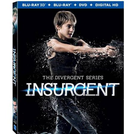 The Divergent Series  Insurgent  Blu Ray 3D   Blu Ray   Dvd   Digital Hd   With Instawatch   Widescreen