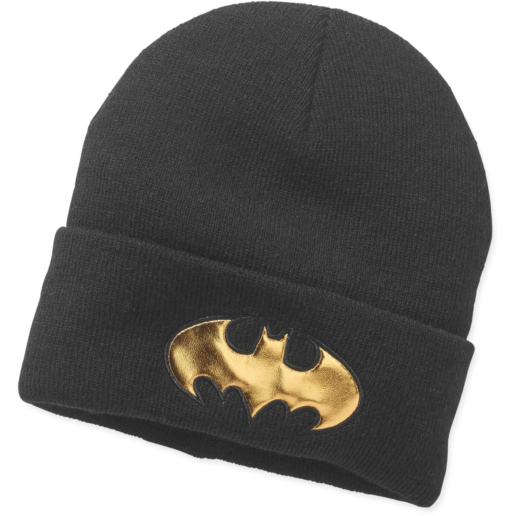 Women's Batman Gold Icon Cuff Knit Hat