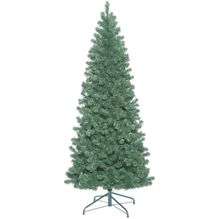 Vickerman 8.5' Oregon Fir Slim Artificial Christmas Tree, Unlit