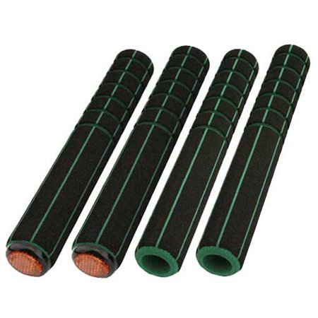 Road Foam Grips 4 Piece Set Black Green  Bike Grips  Bicycle Grips  Lowrider Grips  Beach Cruiser Grips  Mountain Bike Grips