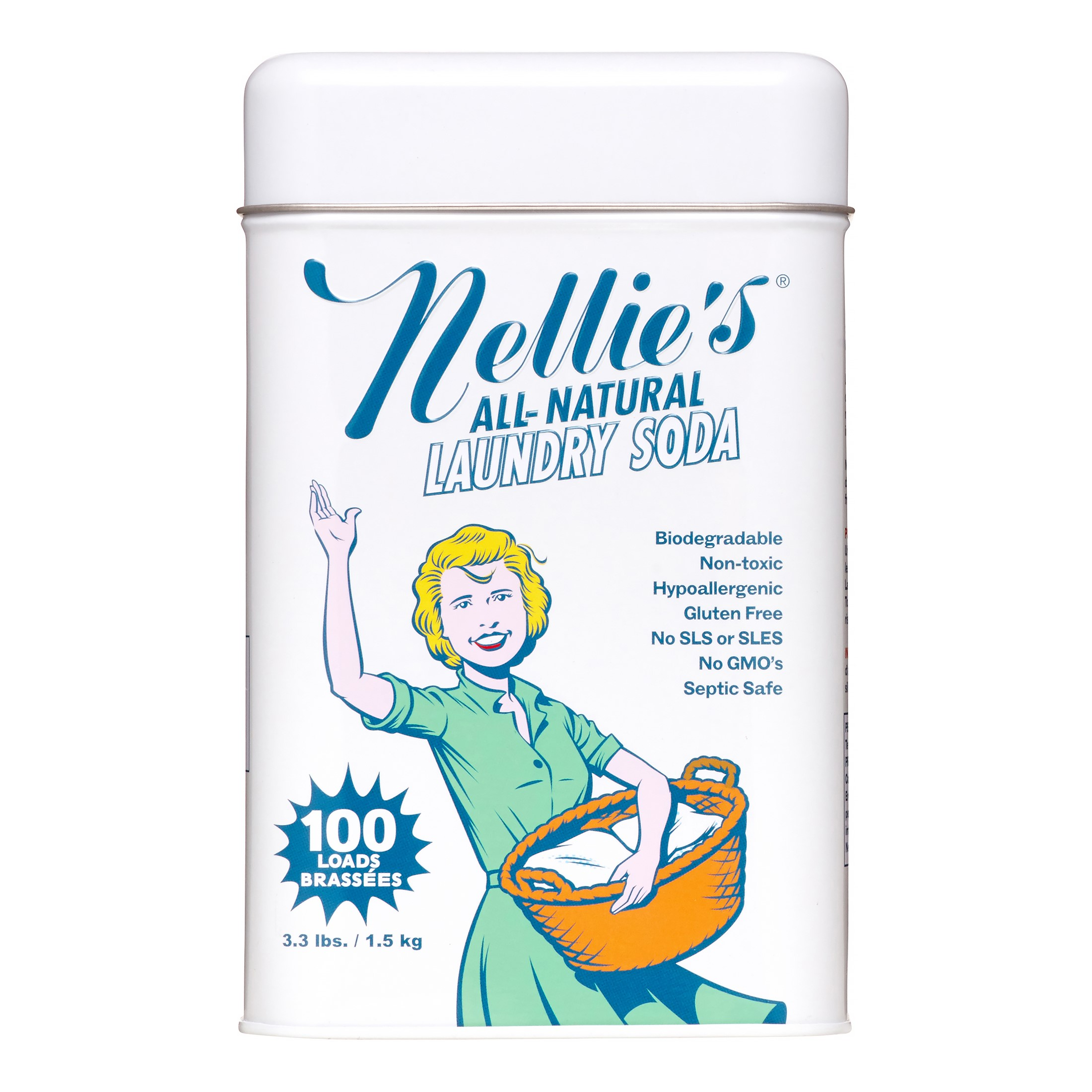 Batten Industries NLS-100 All-Natural Laundry Soap, 100-Load Tin