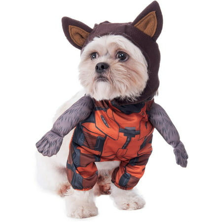 Guardians Of The Galaxy Walking Rocket Raccoon Pet Halloween Costume (Walking Dead Halloween Costumes)