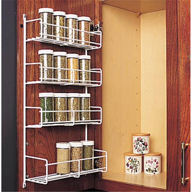 FESR 18WH Feeny 4 Tier Spice Rack 13.75 in. Wide White by